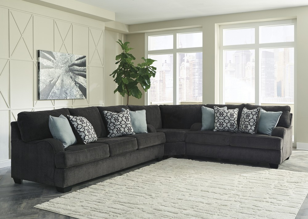 Charenton Charcoal Sectional Central Rent 2 Own