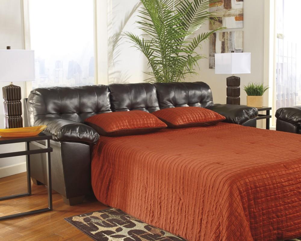 Alliston Chocolate Sleeper Sofa Central Rent 2 Own