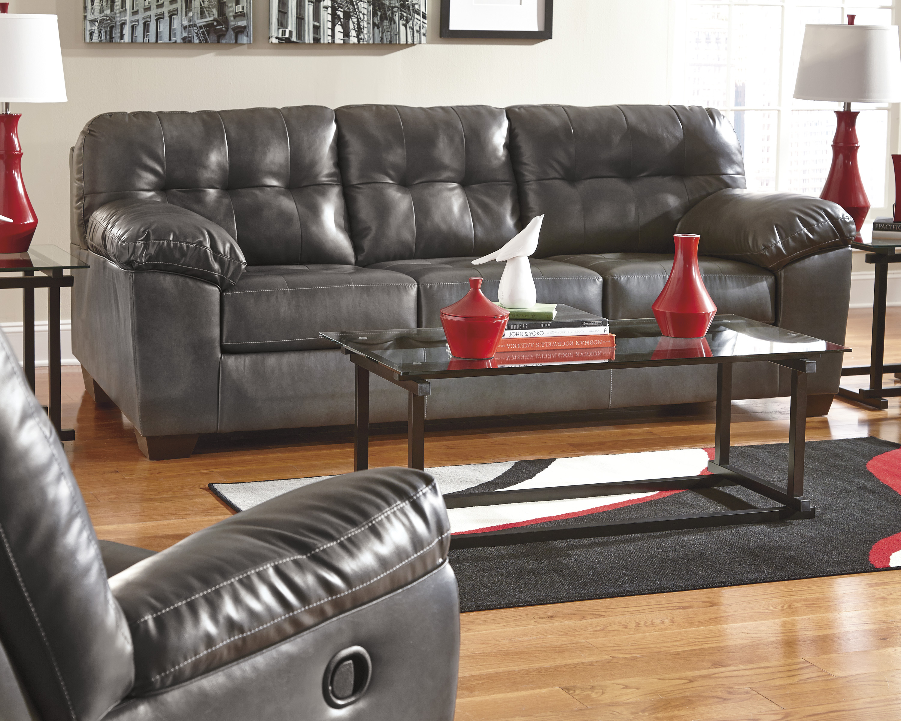 Amazing Alliston Sofa W Recliner Central Rent 2 Own Caraccident5 Cool Chair Designs And Ideas Caraccident5Info