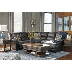 Nantahala Slate Reclining Sectional Central Rent 2 Own