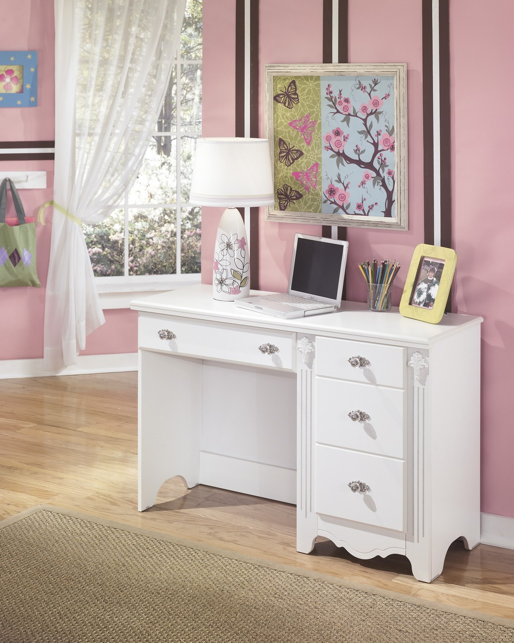 Exquisite - White Bedroom Desk