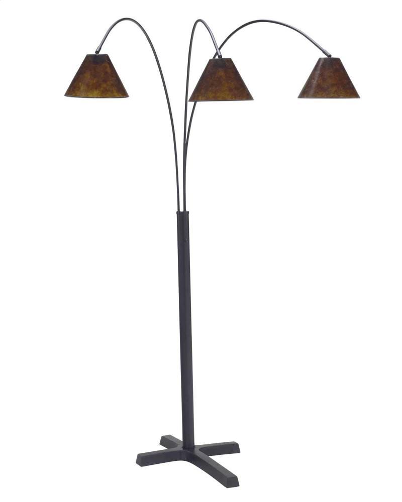 Sharde Black Metal Arc Floor Lamp Central Rent 2 Own