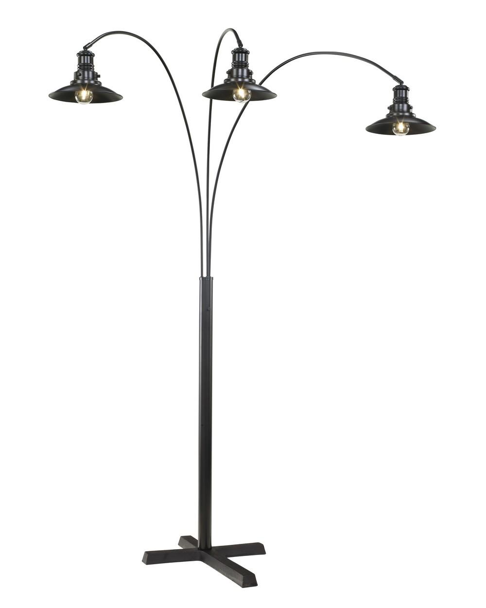 sheriel black metal arc floor lamp central rent 2 own. Black Bedroom Furniture Sets. Home Design Ideas