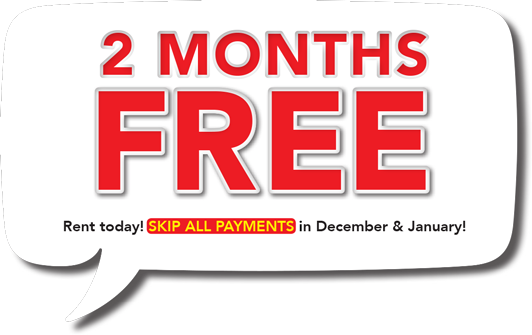 Scratch up and win up to 2 months FREE! Rent today! SKIP ALL PAYMENTS in December and January!
